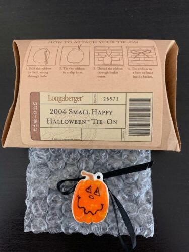 Longaberger 2004 Small Happy Halloween Tie On - NIB
