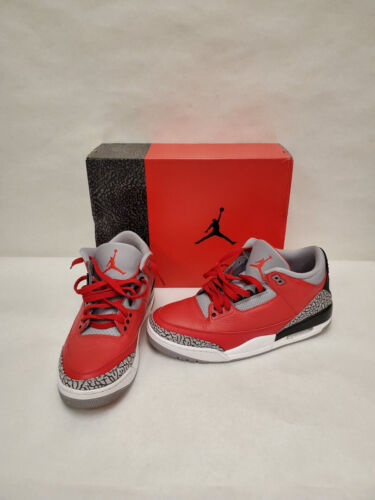 Nike Air Jordan 3 Retro SE Unite Fire Red Cement Grey CK5692-600 Sz12 P6L53932A*