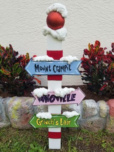 Grinch Sign Post Whoville, Mount Crumpit, Grinch
