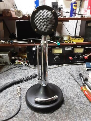 NICE Tested Black Astatic D104 Microphone W/ Amplified Stand