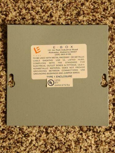 E.BOX Electrical Box 6x6x3 Metal Enclosure