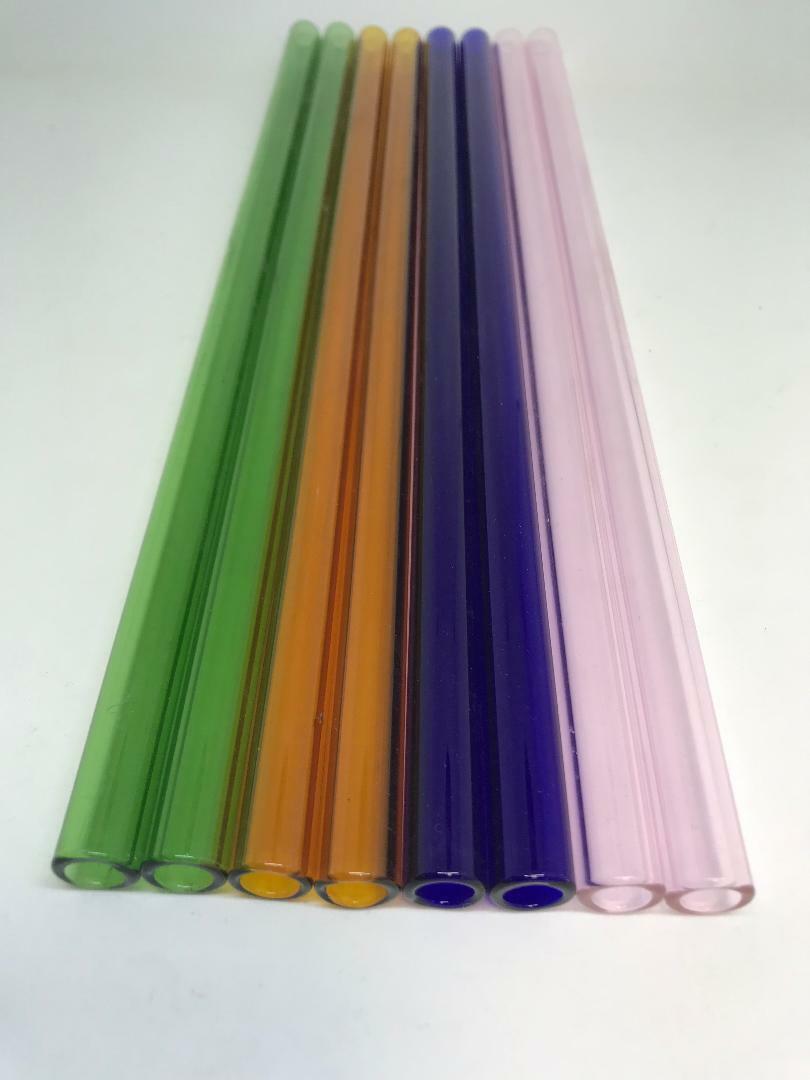 """как выглядит Товар для выдувание стекла 12 mm OD 8mm ID  Pyrex Glass Blowing Tubing (6) Pieces 3 COLOR  12 """" LONG фото"""