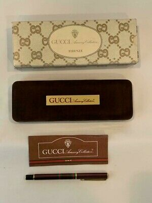 NEW GUCCI Accessory Collection Vintage Fountain Pen Collector's Rare Opportunity