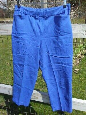 Royal Blue Womens Capris (Susan Graver Royal Blue Capris, rayon blend, women's 14)