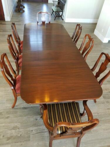 Henkel Harris Mahogany Double Pedestal Dining Room Table