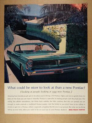 1963 Pontiac Catalina Hardtop illustration art vintage print Ad