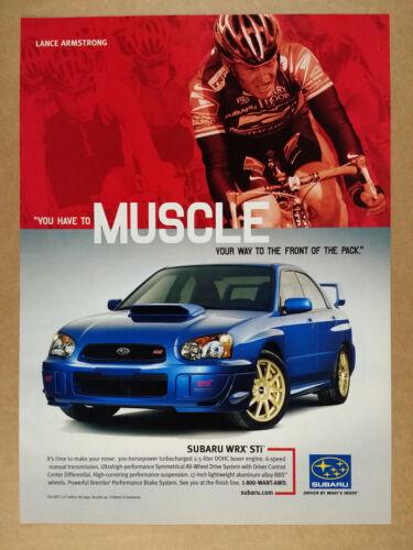 2004 Subaru WRX STi vintage print Ad