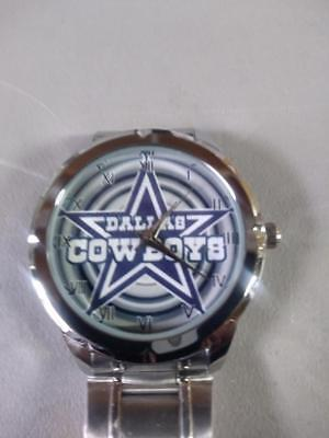 Watch Men NFL DALLAS COWBOYS Custom Casual Dress Stainless Steel Band New  Cowboys Mens Dress Watch