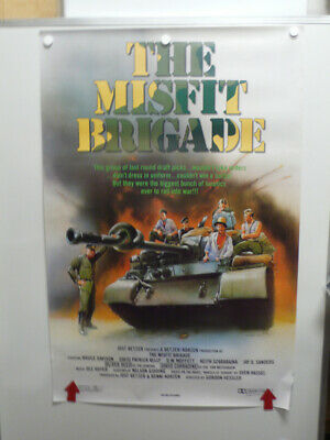 THE MISFIT BRIGADE Bruce Davison DAVID PATRICK KELLY Home Video Poster 1987