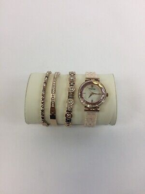 Anne Klein New York Ceramic Bracelet Watch Set 12/2316BHST