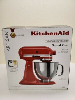 KitchenAid KSM150PSER Artisan 5-Quart Stand Mixer - Empire Red 9/B21017A