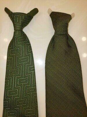 1960s – 70s Men's Ties | Skinny Ties, Slim Ties LOT 2 VINTAGE 60s 1960s CLIP ON TIE GREEN CORNELL PREP AL ROLF 4 MENS BOYS SHIRT $6.50 AT vintagedancer.com