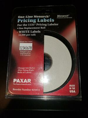 Monarch Easy-load 1131 One-line Pricemarker Labels 716 X 78 White 2500pack