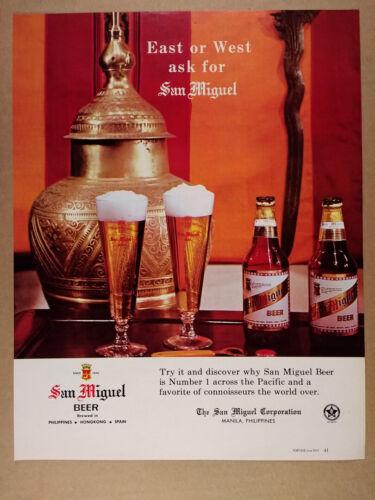 1965 San Miguel Beer bottle photo vintage print Ad