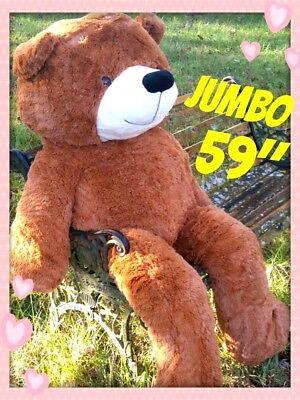 BIG HUGE PLUSH TEDDY BEAR 150CM BEST VALENTINES DAY GIFT BROWN CUDDLY SOFTEST](Huge Valentines Day Teddy Bear)