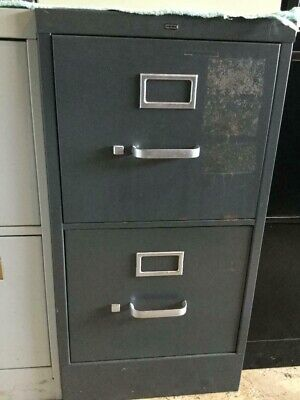 Hon 2 Drawer Vertical Letter Size File Cabinet - Pre Owned Grey