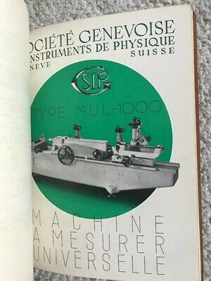 Sip Mul-1000 Universal Measuring Machine Technical Instructions Manual In French
