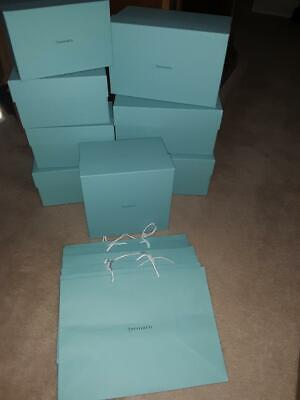 Tiffany Boxes Wholesale (Tiffany & Co - (15 piece) Lot of Large Gift Boxes and Gift)