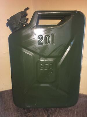 Nato French Militaryarmy Green Surplus 20l5gal Steel Fueldieselgas Jerry Can