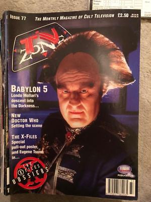 TV Zone 1996 April Issue 77 Babylon 5 Dr Who X files
