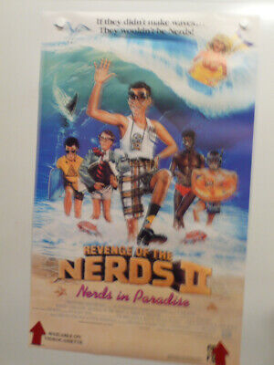 REVENGE OF THE NERDS 2 Robert Carradine CURTIS ARMSTRONG Home Video Poster 1987