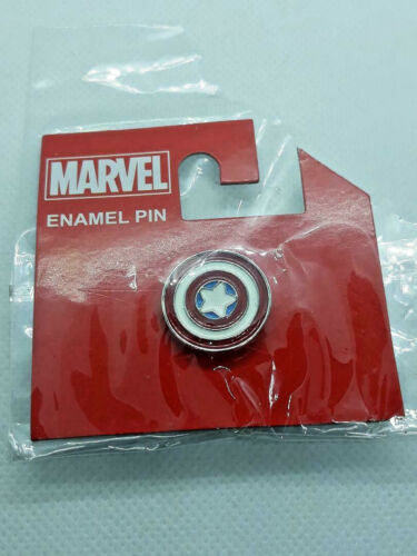 Captain America Lapel Pin Star Shield Marvel Collectable Concept One~ Ships FREE