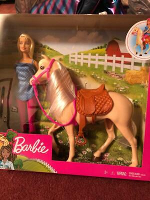 BARBIE DOLL AND HORSE BARBIE LOVES HER HORSE, - NEW.