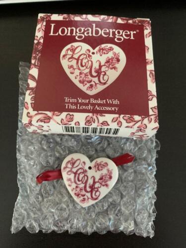 Longaberger Love Tie On - NIB