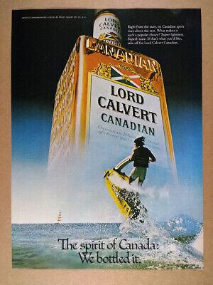1979 Lord Calvert Canadian Whisky kawasaki jet ski photo vintage print Ad
