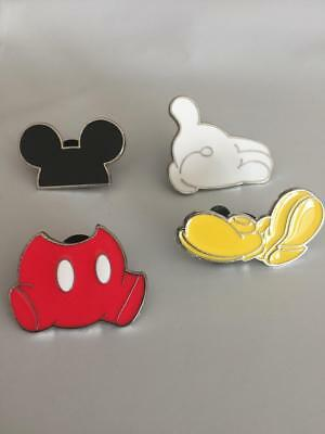 DISNEY PINS MICKEY MOUSE PANTS,SHOES,GLOVE AND EARS -4 PINS AS SHOWN
