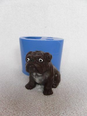 """Bulldog"" dog silicone mold for soap and candles making"