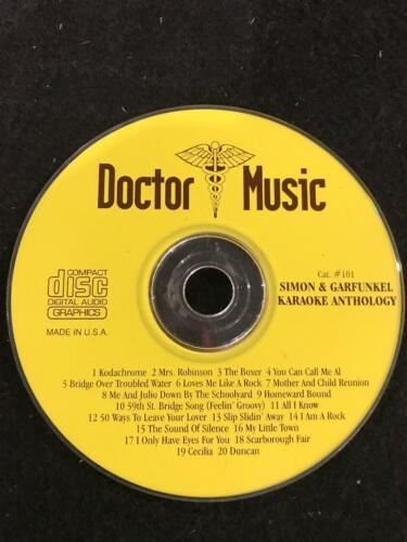 DOCTOR MUSIC KARAOKE SIMON & GARFUNKEL CAT. #101 CD+G DISC