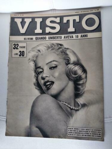 MARILYN MONROE COVER!! VISTO  Italian Magazine SEPTEMBER 1954