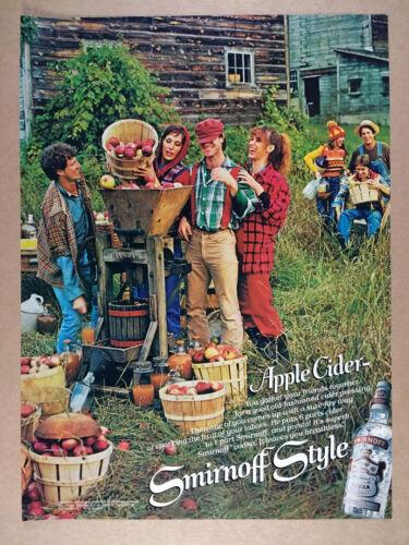 1979 Smirnoff Vodka Hocking Valley Bantam Cider Press photo vintage print Ad