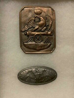 Two Revolutionary War Breast And Box Plate