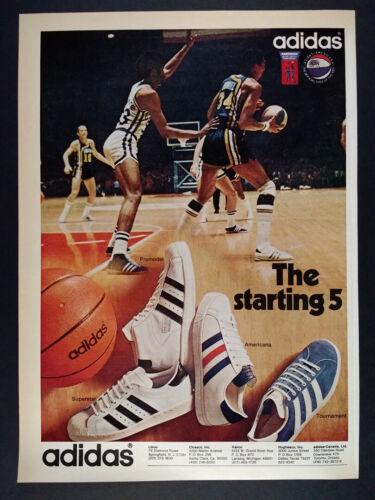 1972 Adidas Superstar Promodel Americana Tournament Shoes vintage print Ad