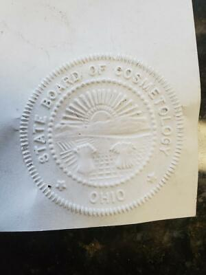 State Of Ohio Notary Public Embosser Ohio State Board Of Cosmetology Seal Stamp