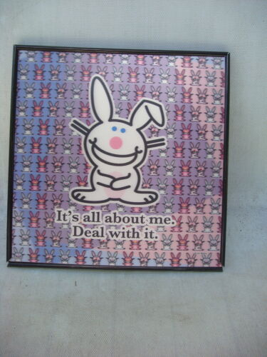 JIM BENTON ITS ALL ABOUT ME HAPPY BUNNY 3D POSTER