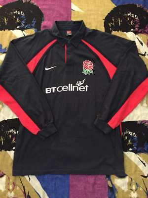 AUTHENTIC INTERNATIONAL ENGLAND RUGBY UGLY AWAY KIT MAGLIA VINTAGE 90's FASHION