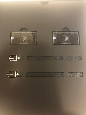 New American Express Centurion Black card holders limited baggage tag in box EMS