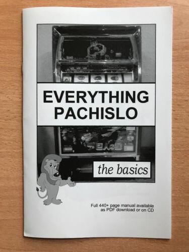 "Pachislo Slot Machine Manual **NEW** EVERYTHING PACHISLO ""BASICS"" MANUAL"