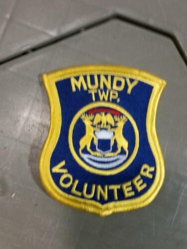Mundy township  volunteer flint  Police Michigan Shoulder Patch