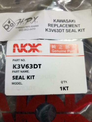 New Replacement  Seal Kit For Kawasaki K3v63dt Hydrostatic Pump