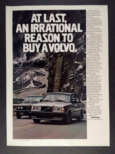 1981 Volvo GLT Sedan vintage print Ad