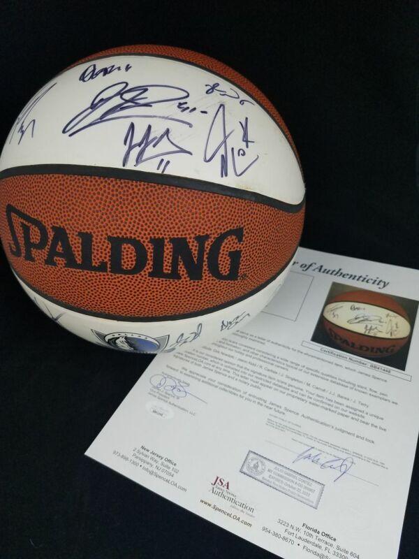 Dallas Mavericks Signed Basketball Dirk Nowitzki Jason Kidd