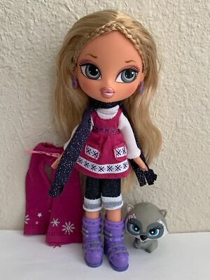 Girlz Girl Bratz Kidz Kid Winter Vacation Cloe Doll Original Clothes Shoes Pet