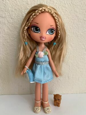 Girlz Girl Bratz Kidz Kid Cloe Doll Blonde Hair Blue Eyes Clothes Shoes Purse