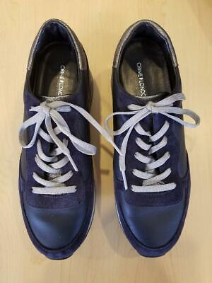 Crime London Dynamic Navy Leather/Suede Sneaker #25502aa1.40