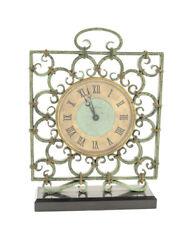 JaegerLeCoultre  desk clock  8 days wrought iron case