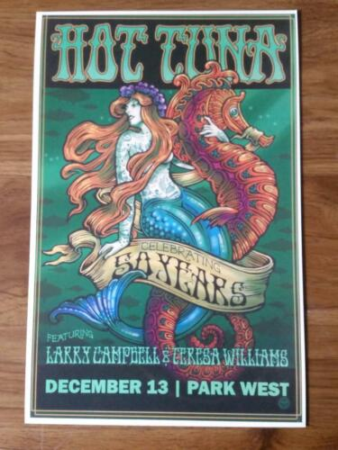 Hot Tuna 50th Poster Park West Chicago 12/13/19 Jefferson Airplane Starship